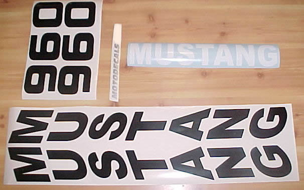 mustang 960 decals stickers